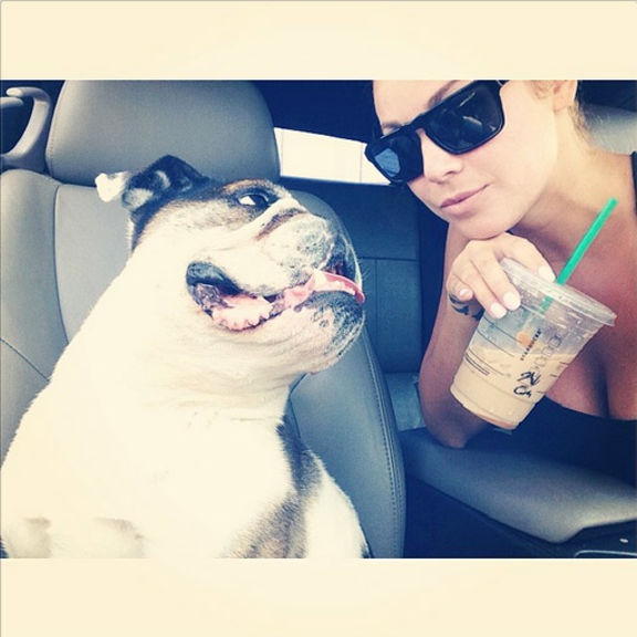 We be ridin' around and getting' it, our Starbucks that is