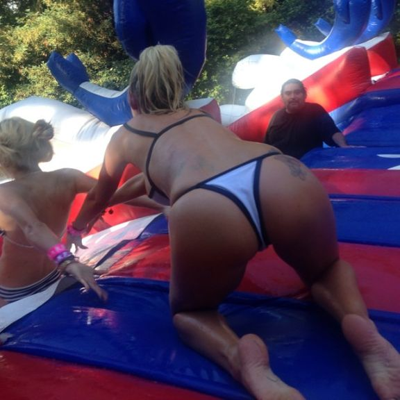 """""""@missdanimathers u can count on me to push u in the right direction. #summerstartsnow @playboy 4th of July fun!"""""""