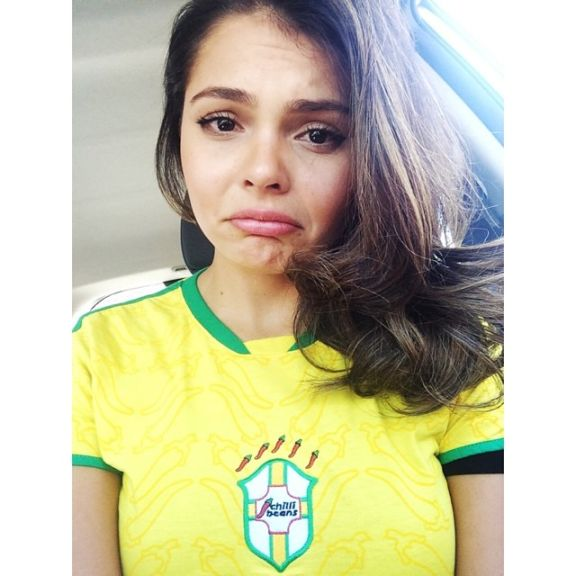 """""""No words to explain what we feel right now. The dream of the 6th star will have to wait another 4years. #sadbrazilian"""""""